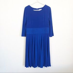 Eliza J Long Sleeve Pleated Dress sz 12